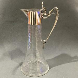 WMF Silver Plate and Glass Claret Jug