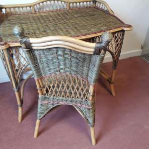 Vintage Bentwood and Cane Desk and Chair