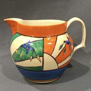 Clarice Cliff Large Sunray Leaves Perth Jug