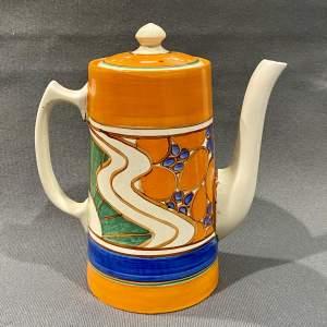 Clarice Cliff Sunrise Coffee Pot