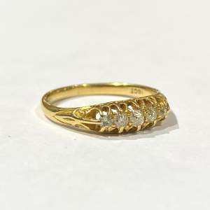 18ct Victorian Gold Diamond Ring