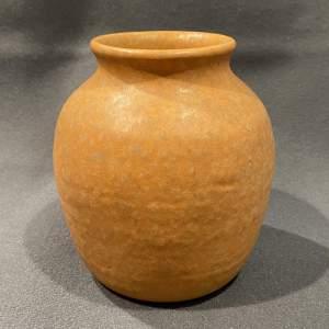Early 20th Century Ruskin Orange Vase