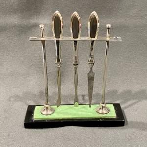 Art Deco Silver Manicure Set