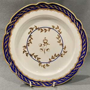 Late 18th Century Flight Worcester Blue and White Plate