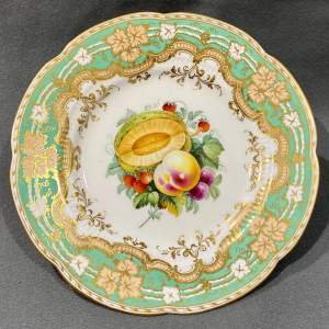 Mid 19th Century Ridgway Hand Painted Fruit Plate