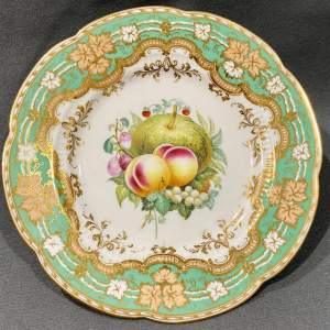 Mid 19th Century Hand Painted Ridgway Fruit Plate
