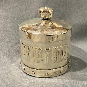 Arts and Crafts A.E. Jones Silver Plated Tobacco Jar