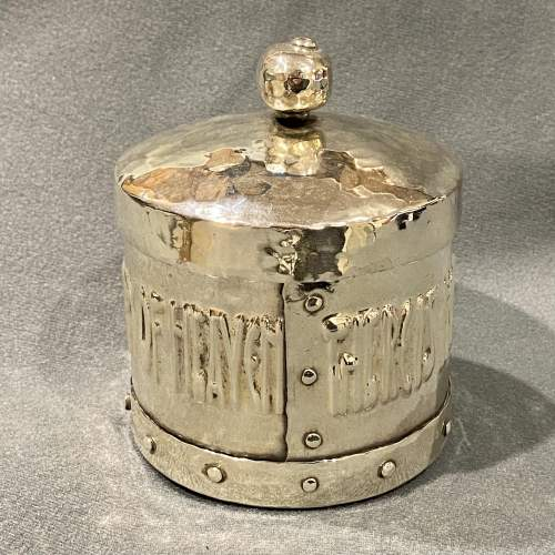 Arts and Crafts A.E. Jones Silver Plated Tobacco Jar image-2
