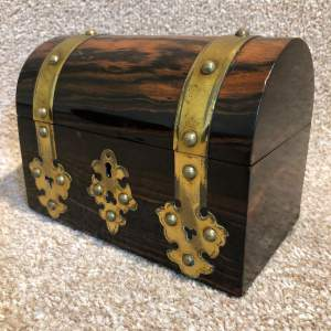 19th Century Domed Top Coromandel Wood Casket