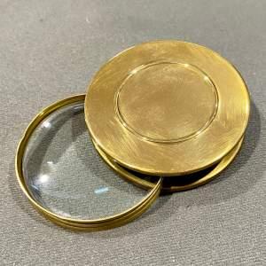 1930s Brass Magnifier Paperweight