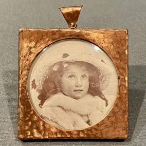 Art Nouveau Copper Photo Frame