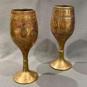Pair of Japanese Taisho Goblets