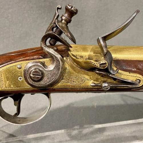 Fantastic Pair of 18th Century Silver Mounted Wilson Flintlock Pistols image-4