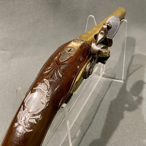 Fantastic Pair of 18th Century Silver Mounted Wilson Flintlock Pistols image-5