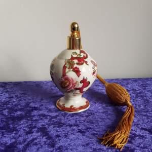 Masons Ironstone Perfume Atomizer In Red Mandalay Pattern
