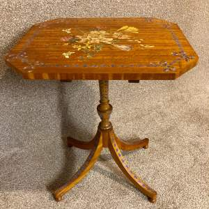 Mid 20th Century Painted Satinwood Table