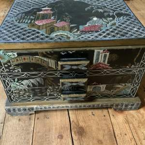 Japanese Prisoner Of War Memorabilia Chest Of Drawers