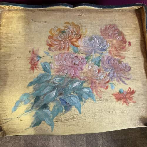 Stunning Old French Side Cabinet Original Hand Painted Floral image-2