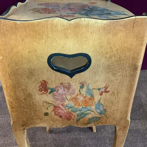 Stunning Old French Side Cabinet Original Hand Painted Floral image-3
