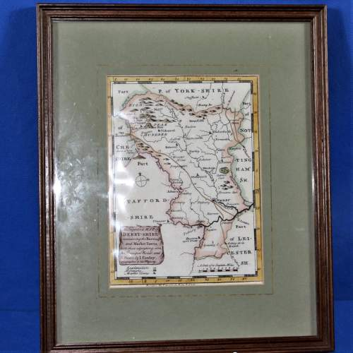 18th Century Map of Derbyshire I Cowley 1745 image-1