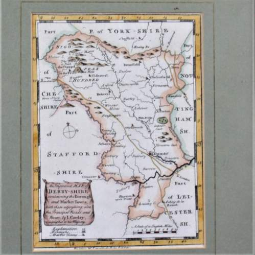 18th Century Map of Derbyshire I Cowley 1745 image-3