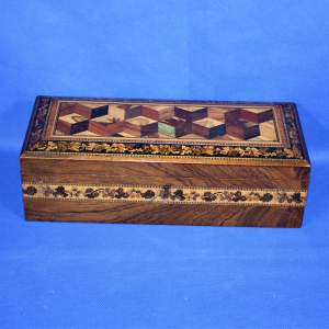 19th Century Tunbridge Ware Rectangular Box