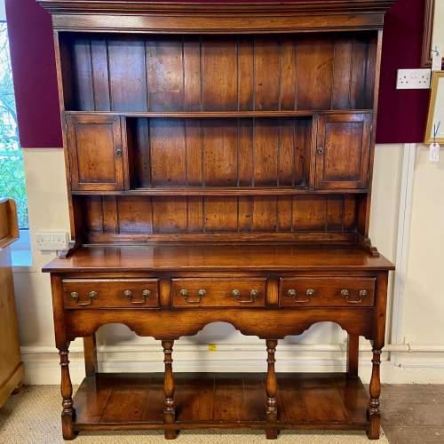 Georgian Style Oak Pot Board Welsh Dresser image-1
