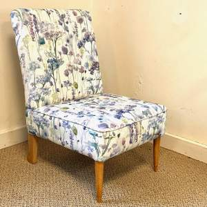 Beech Framed Occasional Chair Fully Refurbished