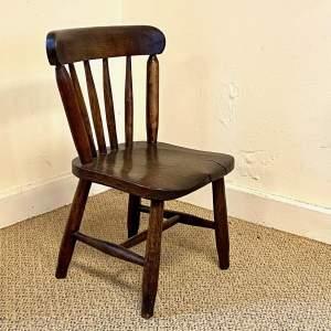 Victorian Elm Childs Chair