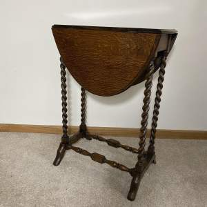 Mid Sized Occasional Sutherland Table with Barley Twist Legs