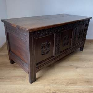 Good Quality 18th Century Long Oak Coffer - Oak Blanket Box