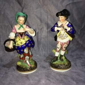 Pair of Derby Figures Circa 1800