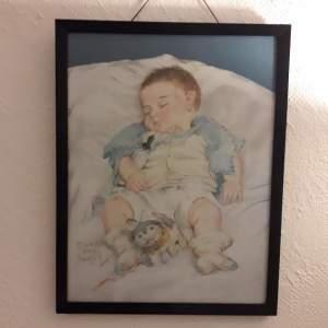 Original Pastel - Sleeping Peacefully - by Maud Tousey Fangel