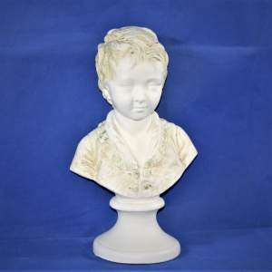 Decorative C20th  Plaster Bust of a Boy in Period Costume
