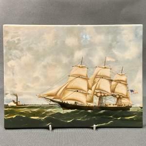 Wedgwood Golden West American Ship Tile
