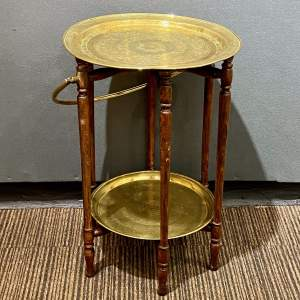 Early 20th Century Eastern Two Tier Folding Table