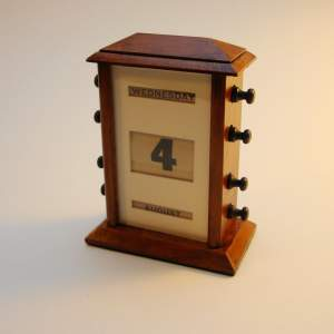 Perpetual Calendar with Walnut Case