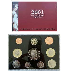 2001 United Kingdom Proof 10 Coin Set