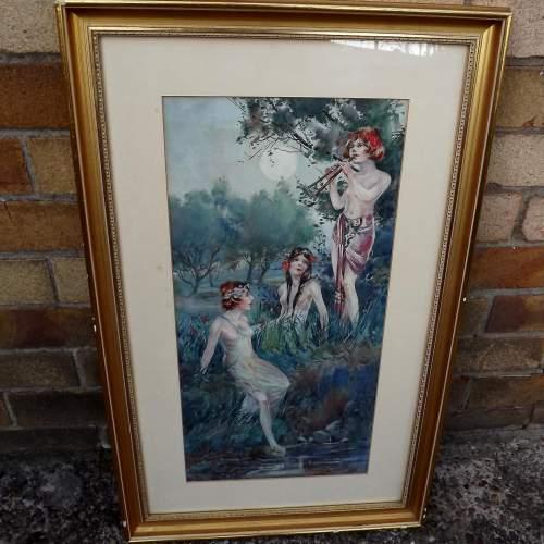 Circa 1920 Gilt Framed Irish Water Colour by Everett Galloway image-2