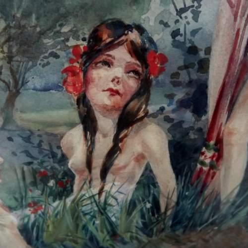 Circa 1920 Gilt Framed Irish Water Colour by Everett Galloway image-4