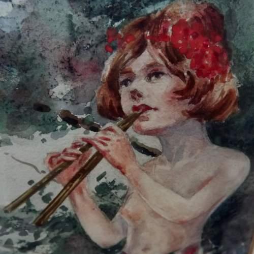 Circa 1920 Gilt Framed Irish Water Colour by Everett Galloway image-5
