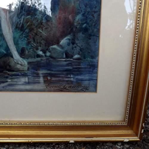 Circa 1920 Gilt Framed Irish Water Colour by Everett Galloway image-6