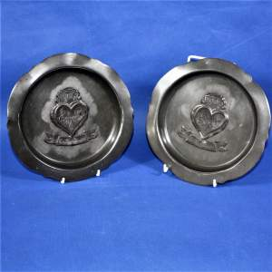 Pair of Esholt Evelyn in Compton in Stansfield Pewter Plates 1904