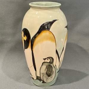 Moorcroft Sally Tuffin Penguin Vase