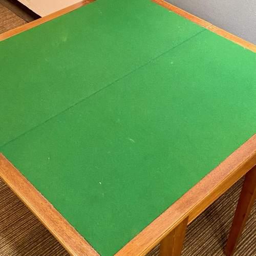 George VI Teak Foldover Card Table image-5