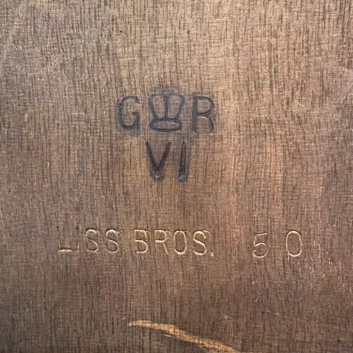 George VI Teak Foldover Card Table image-6