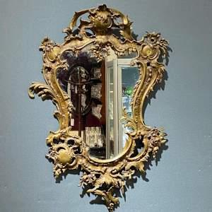 Heavy Gilt Ornate French Wall Mirror