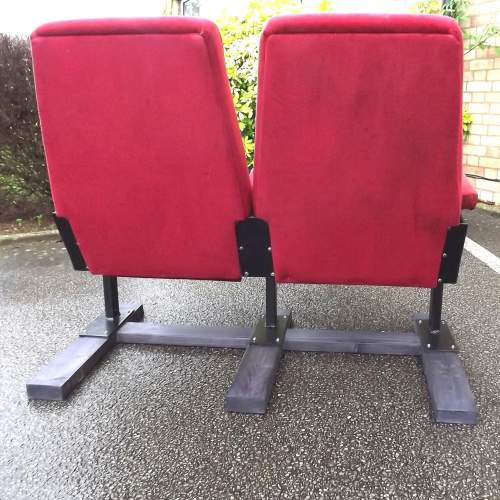 Pair of Vintage Premium Cinema Seats Freestanding on Bespoke Base image-4