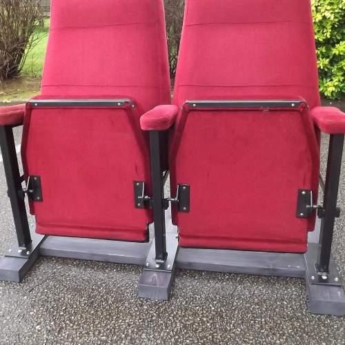 Pair of Vintage Premium Cinema Seats Freestanding on Bespoke Base image-6