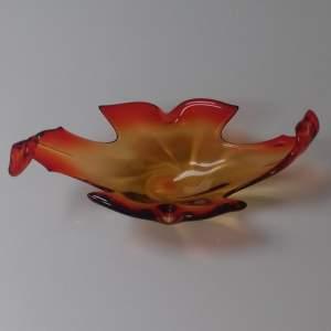 Murano Freeform Art Glass Dish Centre Piece